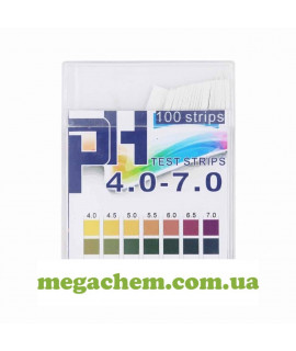 Бумага индикаторная pH4.0 0-7.0 (100 шт. упаковка)